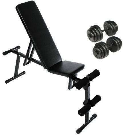 PROGYM® Fitnes klopca s setom uteži 30kg