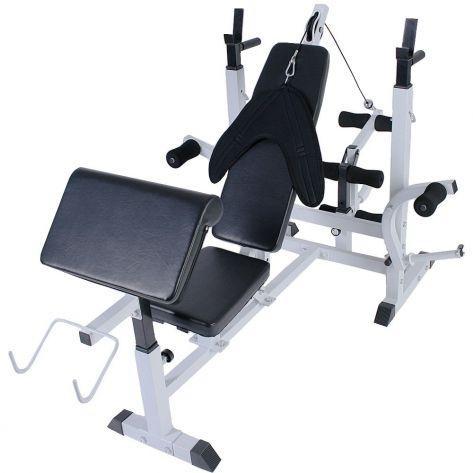 Multifunkcijska fitnes bench naprava z utežmi