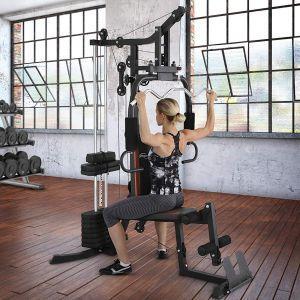 Multifunkcijska fitnes naprava z utežmi 60kg fitnes oprema