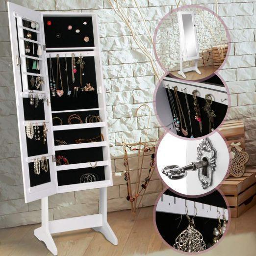 Omara-z-ogledalom-za-nakit-bele-barve-z-dodatkom-kljucev-cena