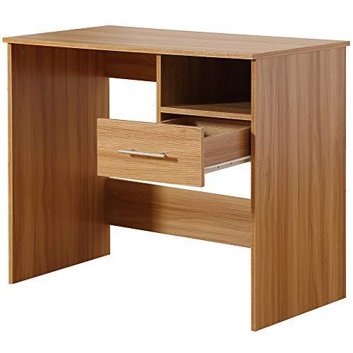 Funkcionalna lesena pisalna miza s predali