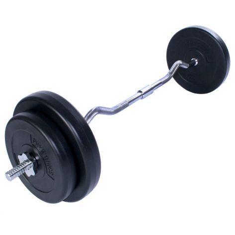 Ukrivljena fitnes palica 30kg