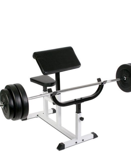 PROGYM Upogibna Klop za Biceps - Preacher Bench
