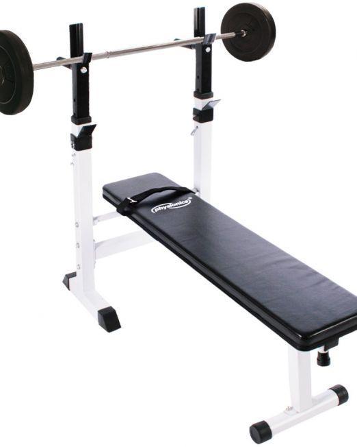 Bench klop + palica z utežmi 20kg