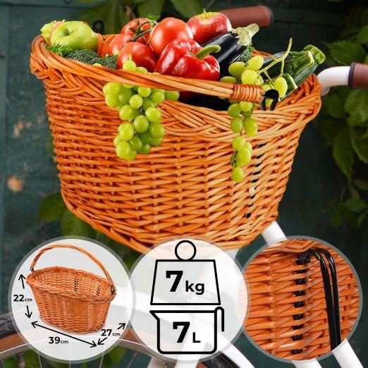 Pletena nakupovalna košara za kolo