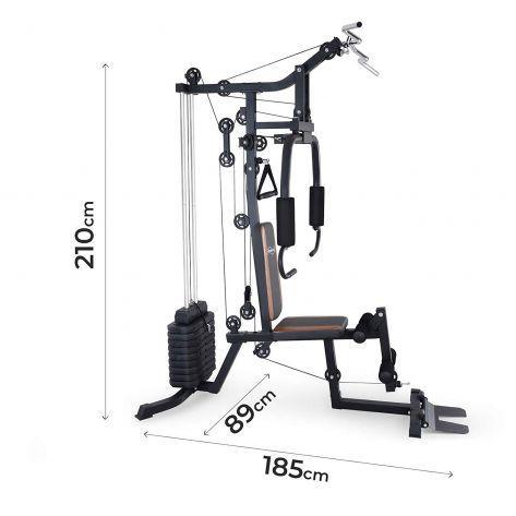 Multifunkcijska fitnes naprava z utežmi 60kg