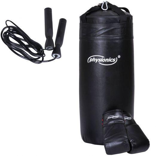 Boksarska vreča z rokavicami in kolebnico cena