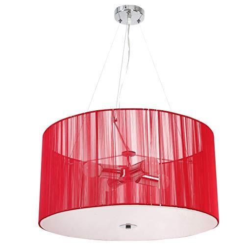Rdeča retro stropna luč A++
