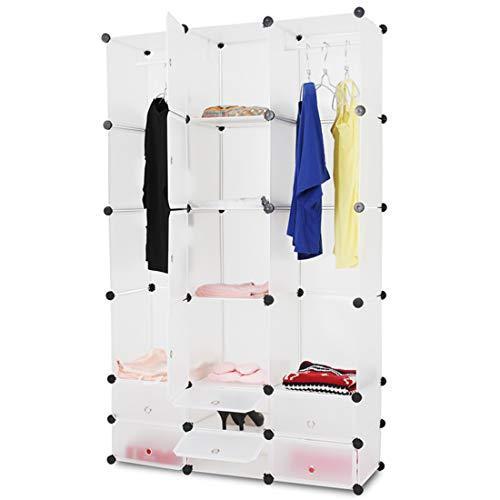 Plastična omara za garderobo z dodatki za organizirano garderobo