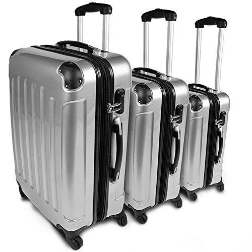 Komplet potovalk s tremi različnimi potovalkami