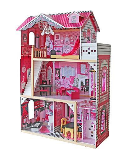 Lesena hiška za punčke za igranje nizka cena