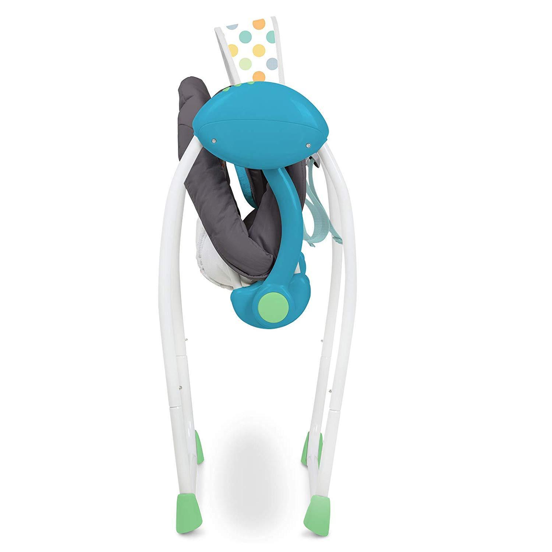 Električni gugalnik za dojenčke z glasbo in z več stopnjami gunganja - moder nizka cena