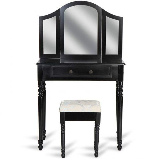 Kozmeticna-miza-s-stolom-in-tremi-velikimi-ogledali-Marvel-crna-cena