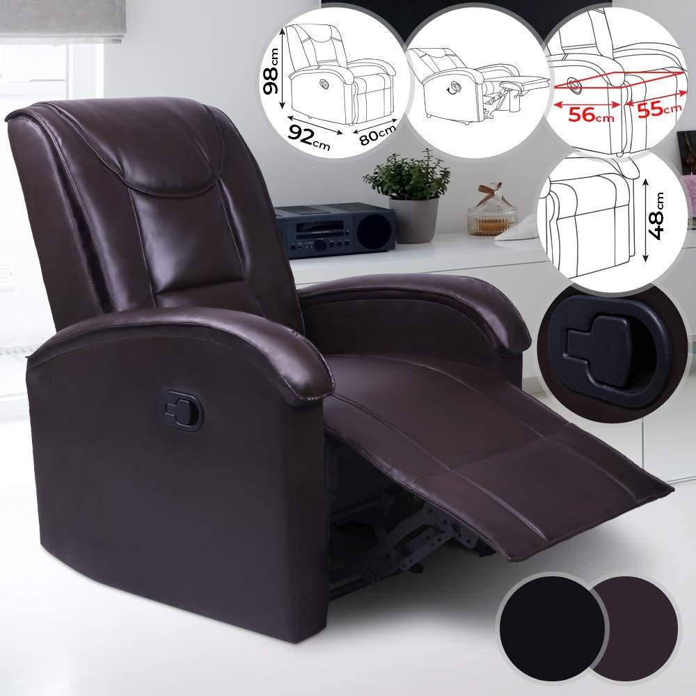 Udoben usnjen fotelj počivalnik cena