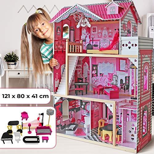 Lesena hiška za punčke za igranje cena
