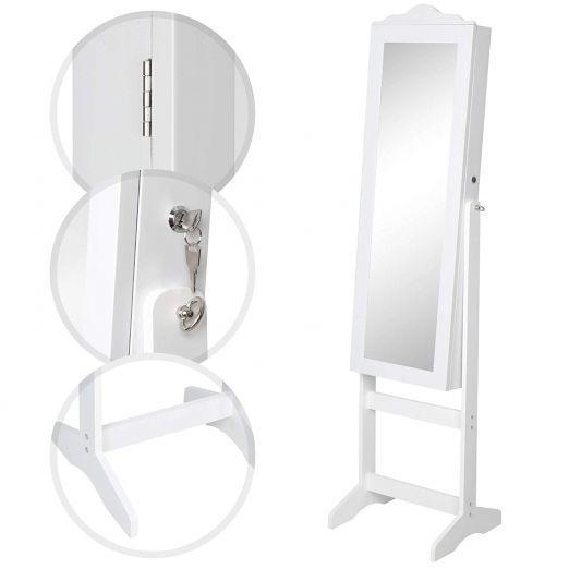 Samostojece-ogledalo-za-shranjevanje-nakita-Anabelle-bele-barve-cena