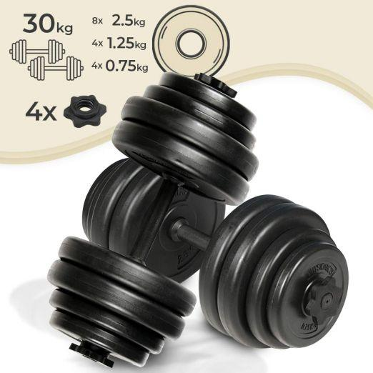 Set prostorčnih fitnes uteži 2 x 15 kg