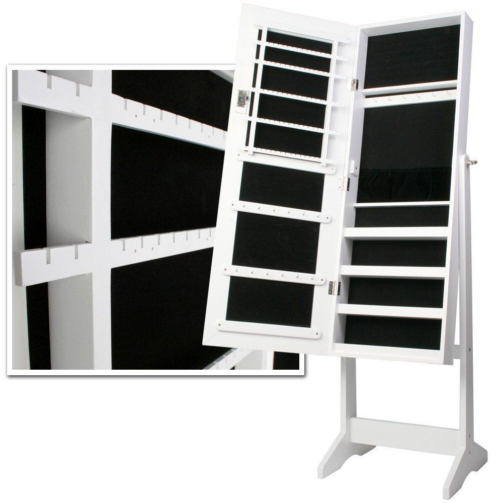 Omara-z-ogledalom-za-nakit-bele-barve-z-dodatkom-kljucev-nizka-cena