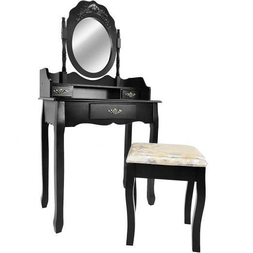 Kozmeticna-miza-s-stolom-in-ostalimi-dodatki-Premium---crna