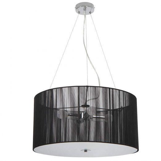 Retro stropna svetilka A++ v črni barvi