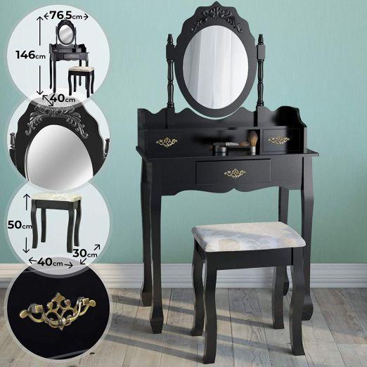 Kozmeticna-miza-s-stolom-in-ostalimi-dodatki-Premium-crna-cena