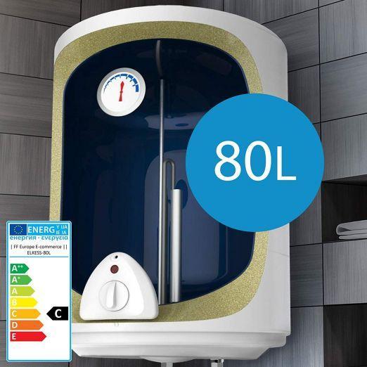Električni bojler, grelnik vode za kopalnico 80l - 1500W