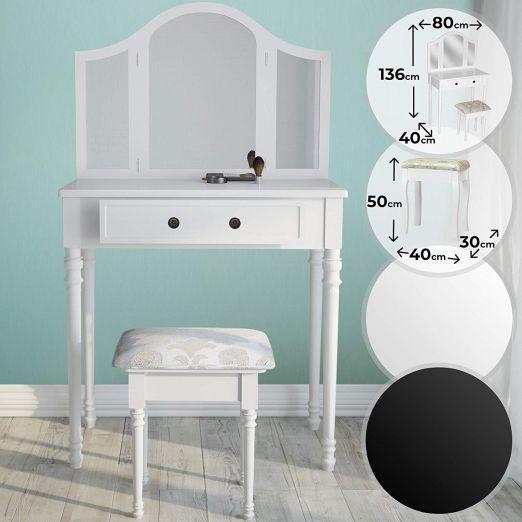 Kozmeticna-miza-s-stolom-in-tremi-velikimi-ogledali-Mabel-bela-cena