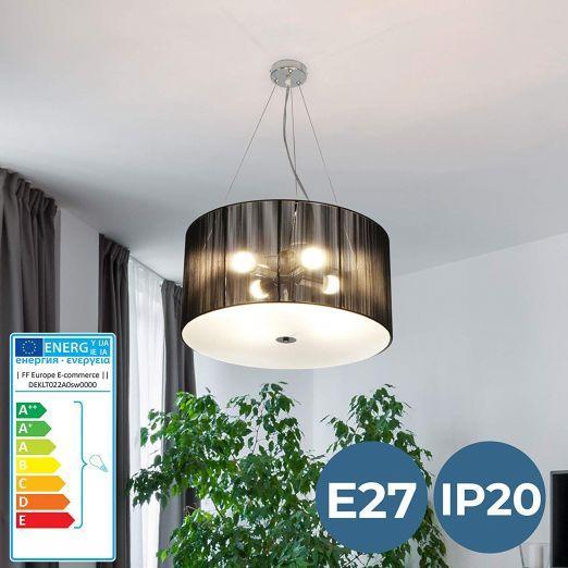 Retro stropna svetilka A++ v črni barvi cena
