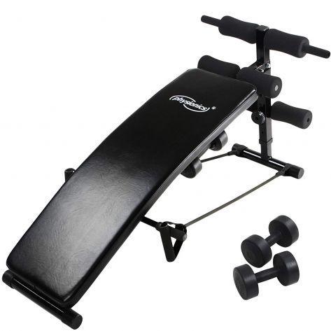 Naprava za trening trebušnih mišic z utežmi