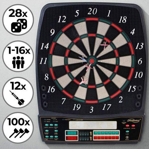 Elektronski pikado z LCD in nastavljivo glasnostjo za 16 igralcev