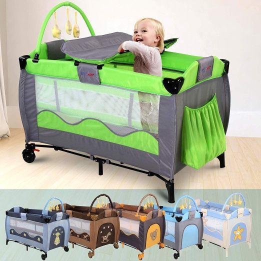 Zložljiva otroška posteljica za potovanja z dodatki Cutie - zelena cena