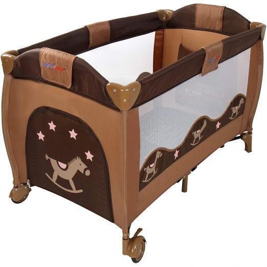 Zložljiva otroška posteljica za potovanja z dodatki Babylove - rjava cena