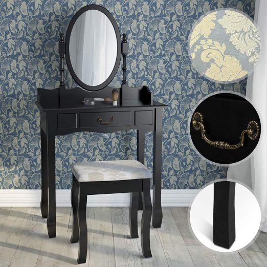 Kozmeticna-miza-s-stolom-Deluxe-za-licenje-crna-cena