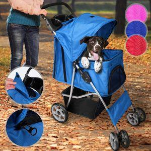 Voziček za psa, kužka - modre barve cena