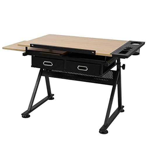 Pisalna miza s stolom in predali cena
