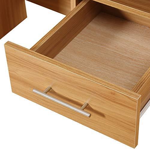 Funkcionalna lesena pisalna miza s predali nizka cena