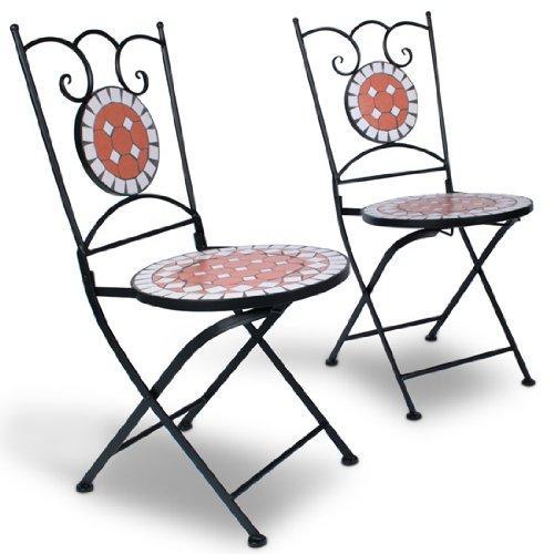 Vrtni set stolov in mize z mozaičnim vzorcem