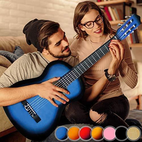 Večbarvna klasična akustična kitara 4/4 cena