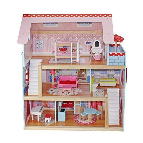 Hišica za punčke s vsem pohištvom in dodatki