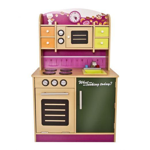 Otroška kuhinja iz lesa z ogromno dodatki cena