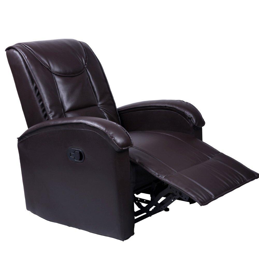 Fotelj, počivalnik - rjav/črn