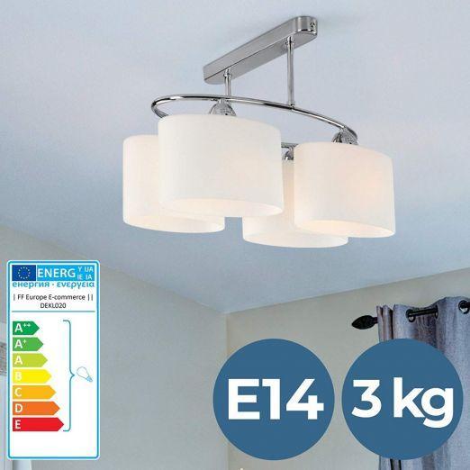 Stropna svetilka s steklenimi senčniki cena
