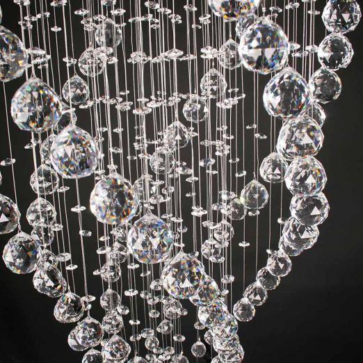 Stropna svetilka s kristali iz nerjavečega jekla cena