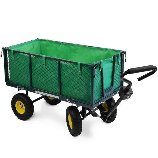 Ročni voziček s štirimi kolesi za vrt