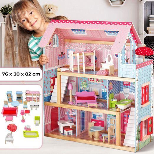 Hišica za punčke s vsem pohištvom in dodatki cena