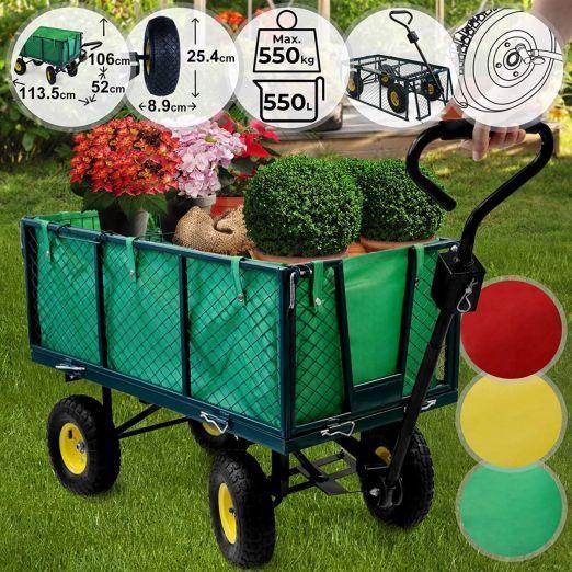 Ročni voziček s štirimi kolesi za vrt cena