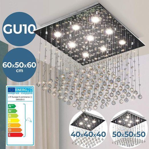 Stropna svetilka s kristali 40W cena