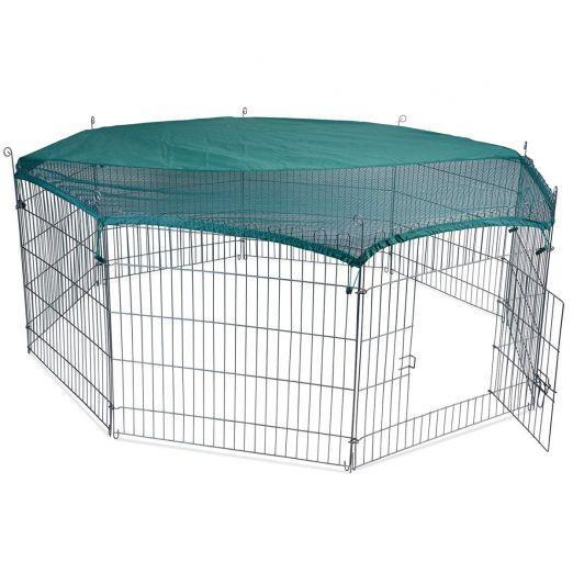Osemkotna prostorna kletka za zajce