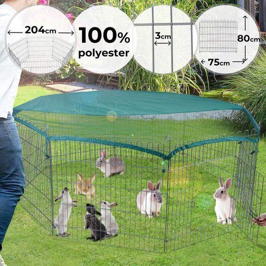Osemkotna prostorna kletka za zajce cena