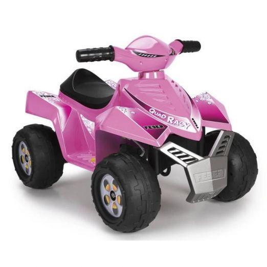 Električni štirikolesnik za otroke v roza barvi